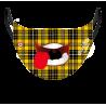 Masque garçon - écossais